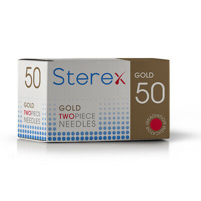 Sterex Two Piece Gold Needles - 004 Short - Box of 50