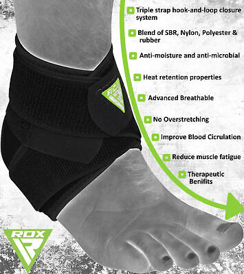 RDX Ankle Foot Support Protector Guard Stabilizer Brace Grip Injury Wrap Bandage