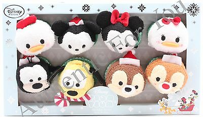NEW US Disney Christmas Holiday Set of 8 Mini Tsum Tsum Mickey Minnie Donald