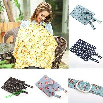 Mum Breastfeeding Cotton Blanket Shawl Udder Cover Up Baby Poncho Nursing Shawl