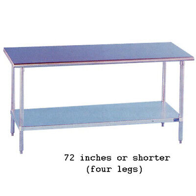 "Stainless Steel Work Table 24"" Wide Size 48"""