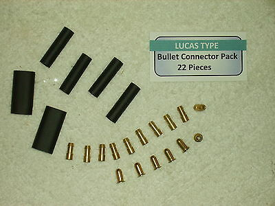 Lucas Type 4.7 mm Bullet Connector Pack- 22 Pieces