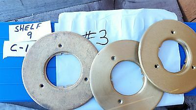 Lot of 3- Walker Wiremold 896  Brass Cover Plate