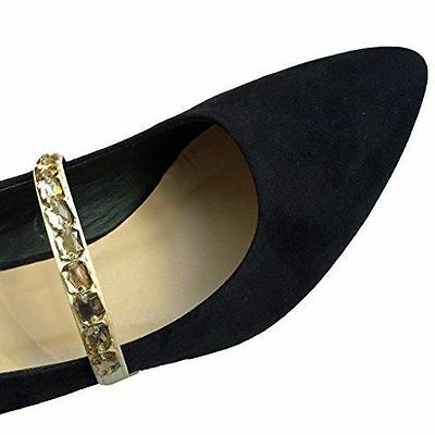 Elasticated Shoe Straps, Shoe Decoration, Wedding Shoe Accessories - Gold Jewell