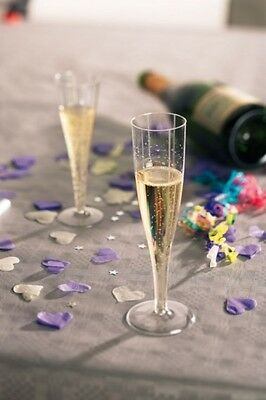 180ml Disposable Plastic Champagne Flutes - Pack of 10 [5055202168244]