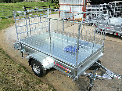 7x4 SINGLE AXLE UNBRAKED,CAGED,BOX TRAILER,