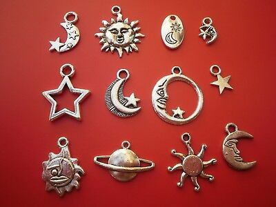 Tibetan Silver alloy CELESTIAL charms craft work jewellery making  Wiccan pagan