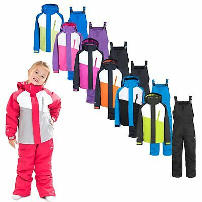 Trespass Crawley Kids Waterproof Ski Suit Set Includes Trousers and Jacket