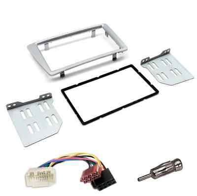 Honda Civic Ep2 Ep3 2001-2006 Cd Double Din Facia Fascia Panel Silver Full Kit