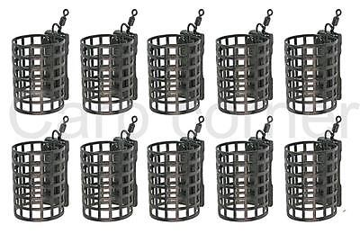 10 x NGT 15g Round Metal Cage Feeders Carp Coarse Match Barbel Fishing Tackle