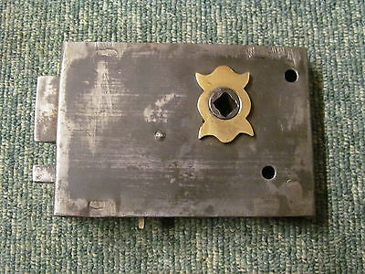 Early reclaimed rim lock/latch stripped of paint    -RL66-