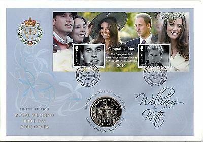 2010 One Crown Coin Hrh Prince William & Catherine Kate Royal Wedding (1) Iom