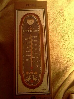 Vintage 1987 Elgin Habersham Country Collection Wall Decor Thermometer W-1287