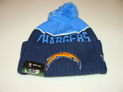 San Diego Chargers Knit On Field New Era Toque Beanie Player Sideline Hat Cap