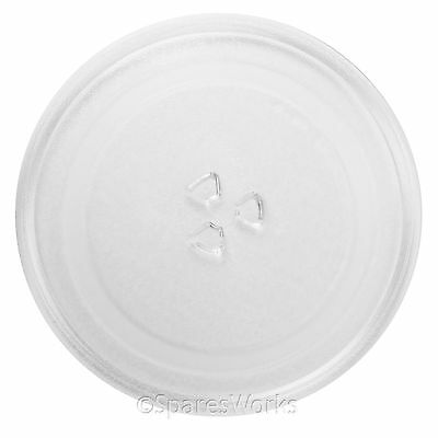 "UNIVERSAL 25cm Microwave Glass TURNTABLE PLATE 255mm 10"" 3 Lug / Pip Dish"