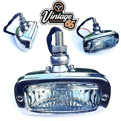 Classic Car Vintage Kit Car Import Stainless Steel Reverse Light Fog Lamp 12V
