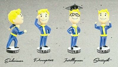 """Fallout 4 Vault Boy Bobblehead Collection Set - All five 7"""" Lot of 5"""