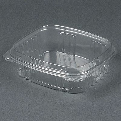 16 oz Tamper Evident Plastic Food Container Clamshell w/Lid 240 per case