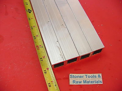 "4 Pieces 1""x 1""x 1/8"" Wall x 18"" Long ALUMINUM SQUARE TUBE 6063 T52 1""SQ x .125"""