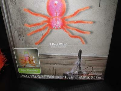 Sound & Motion Activated Dropping Spider Halloween  Lights Up New Color Changing