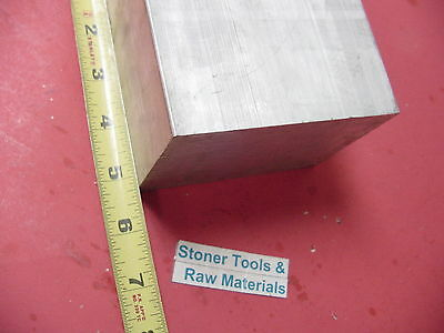 "3"" X 3-1/2"" ALUMINUM 6061 FLAT BAR 5.25"" LONG SOLID T6511 3.00"" Plate Mill Stock"