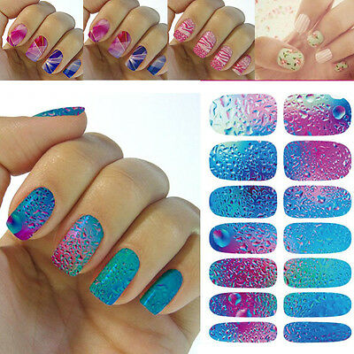 3D DIY Water Transfer Nail Art Wraps Stickers Decals Polish Stickers Tips Decors