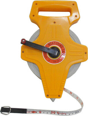New The Original 50 metre Fiber Glass Measuring Tape with Foot Stud tape measure