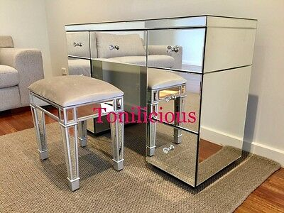 7 Drawers Mirrored Makeup Vanity Table/Dressing Table/Console Table