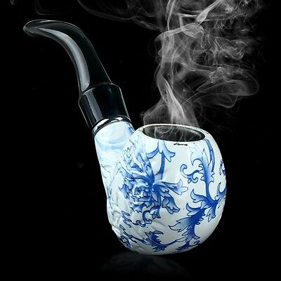 Durable Ceramics Pipe Smoking Tobacco Pipes Cool Gift Present Cigar Pipe 66