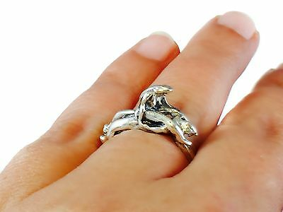 Kama Sutra Erotic Hot Couple Sexy Love Position Nude Couple Ring Sterling Silver