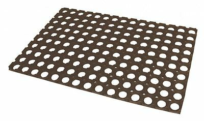 JVL Rondo Rubber Ring Patterned Door Mat 40cmx60cm Excellent Dirt Stopping