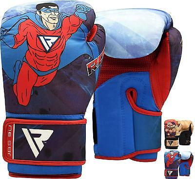 RDX 6oz Kids Boxing Gloves Junior Mitts Punch Bag MMA Children Kick Youth Boys