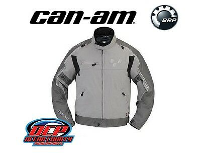 New Oem Can-Am Men's Gray Cruise Riding Jacket Spyder Roadster $259 Retail