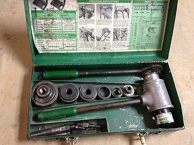 "Greenlee Model 1906 Knockout set w/ 1/2""-2"""