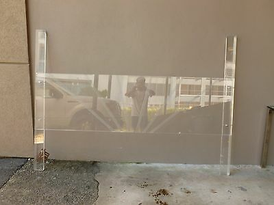 Imposing Sleek 1970's Mod Space Age King Sized Lucite Headboard