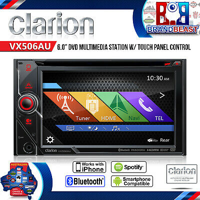 "Clarion Vx506au 6"" Multi Media Car Receiver 2din Usb Ipod Bt Sd Hdmi Rep Vx603au"