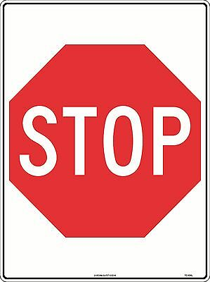 Stop   Metal  Sign Safety 300x225mm