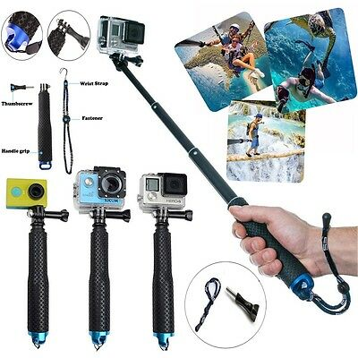 Waterproof Selfie Stick Pole Handheld Monopod Tripod for GoPro Hero 6 5 4 SJ9000