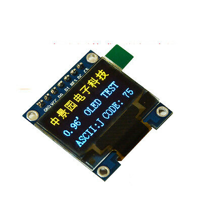 "Yellow&Blue 3.3v 5v 0.96"" SPI Serial 128X64 OLED LCD Display Module for Arduino"