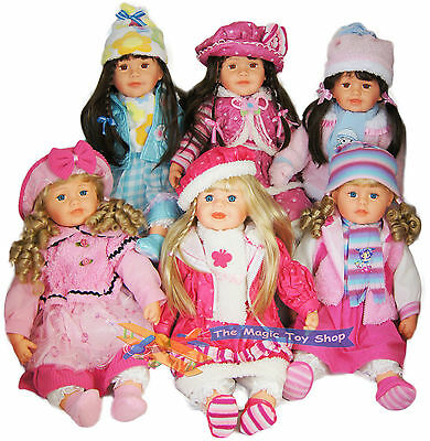 """Large 22"""" Soft Bodied Baby Girl Doll With Outfit Long Hair Girls Toy"""