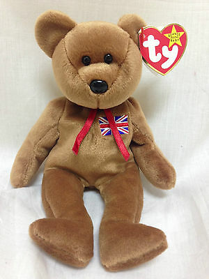 Ty Beanie Baby Britannia Royal Girl Bear - 15 December UK Exclusive RARE