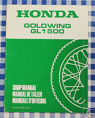 BB 67MN530X  Manuale Officina Supplemento Honda Goldwing GL 1500  M stampa 91
