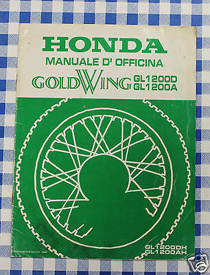 BB 67MG900X Manuale Officina Supplemento Honda Goldwing GL 1200 DH AH stampa 86