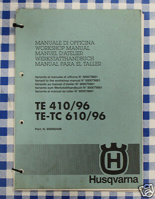 BB 800082426 Manuale Officina Variante HUSQVARNA TE 410 1996 TE TC 610 1996