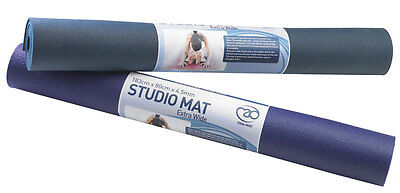 Fitness Mad Yoga Pilates Extra Wide Studio Mat Intensive & High Density - 4.5mm
