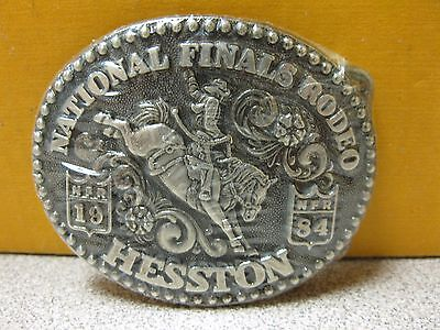 1984 Vintage Hesston National Finals Rodeo Youth Size Belt Buckle FREE SHIPPING