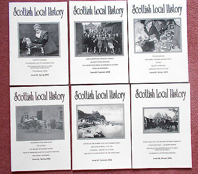 SCOTTISH LOCAL HISTORY JOURNAL x 6 - issues 63-68 Spring 2005-Winter2006