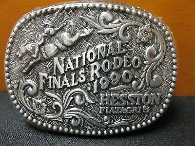 New Hesston 1990 National Finals Rodeo Youth Size Belt Buckle New FREE SHIPPING!