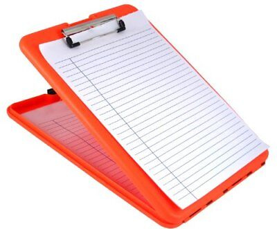 Saunders SlimMate Plastic Storage Clipboard, Letter/ A4 Size , Bright Orange New