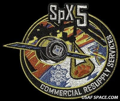 SPACEX SPX-5 - NASA COMMERCIAL ISS RESUPPLY ORIGINAL AB Emblem SPACE PATCH